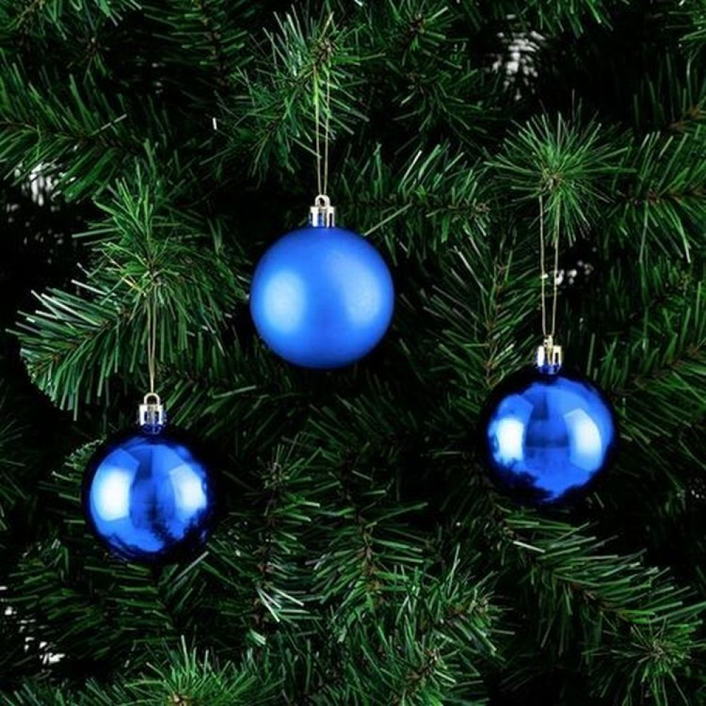 Set 20 globuri albastre D6cm imagine 2021 insignis.ro