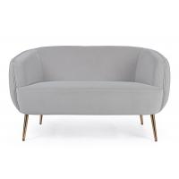 Canapea 2 locuri gri Linsay L129cm