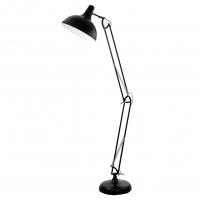 Lampa podea neagra-cromata-alba Torino H190