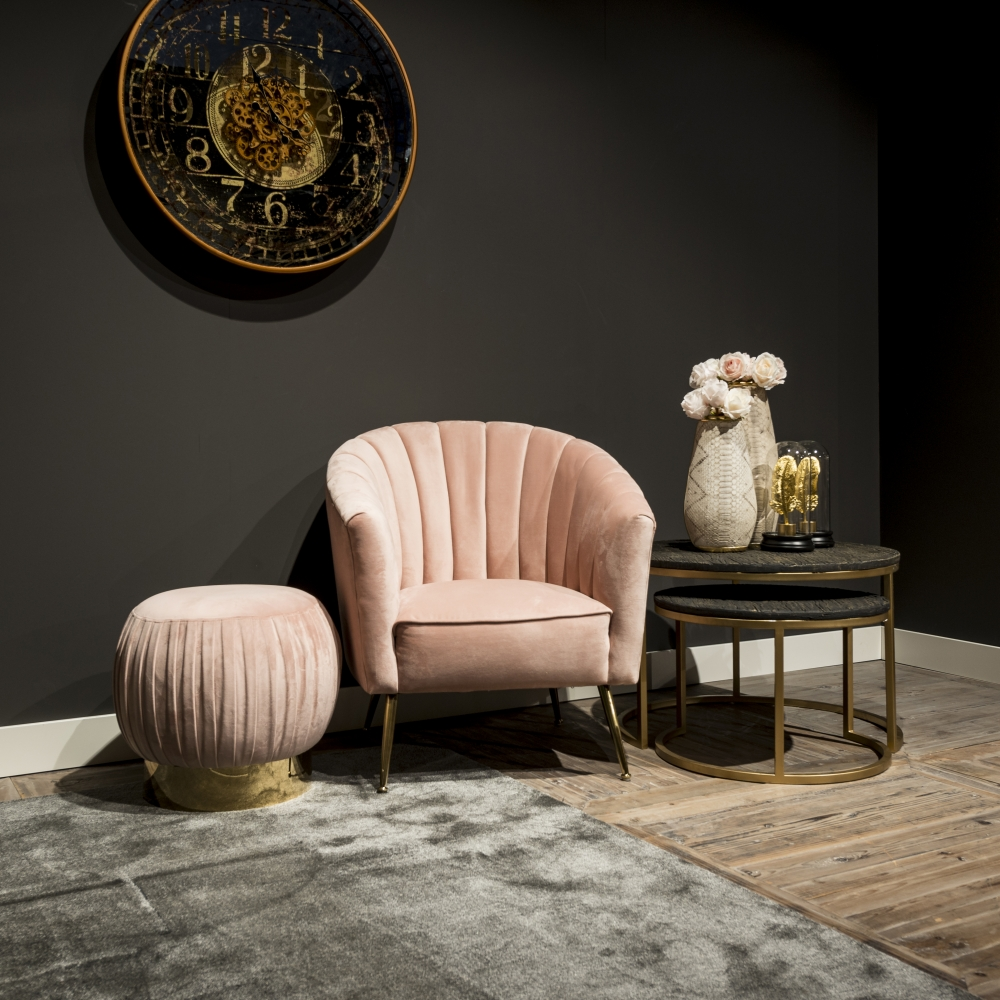 Fotoliu Richmond Shelly catifea roz imagine 2021 insignis.ro