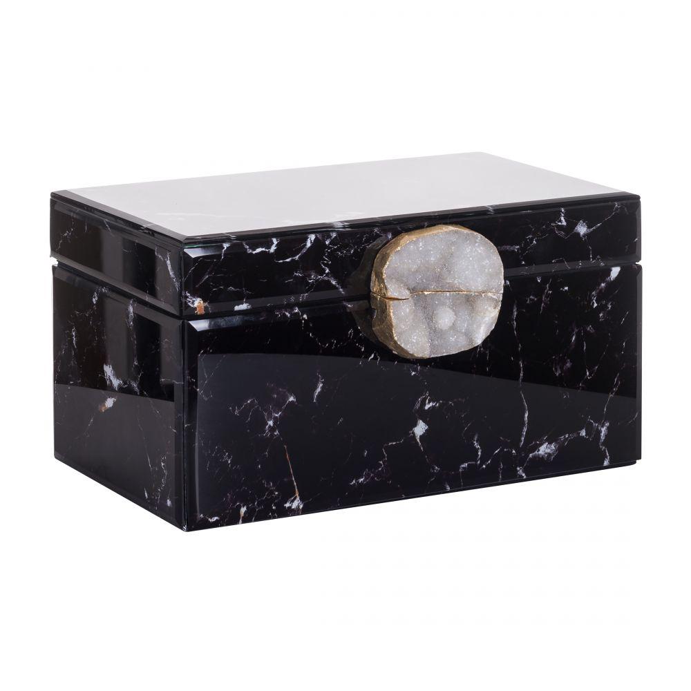 Cutie bijuterii Richmond Maeve neagra efect marmura L30cm