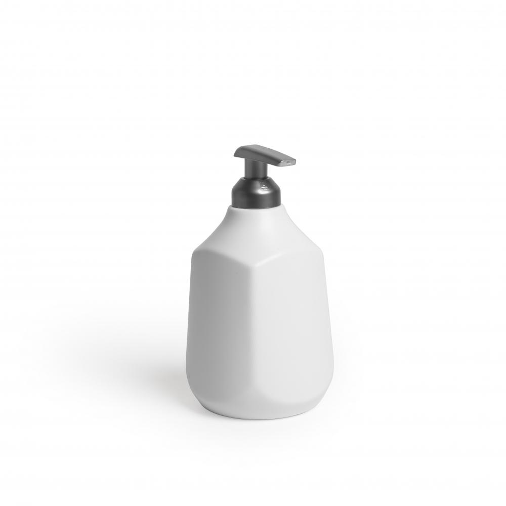 Dispenser pentru sapun lichid alb Corsa H17cm imagine 2021 insignis.ro