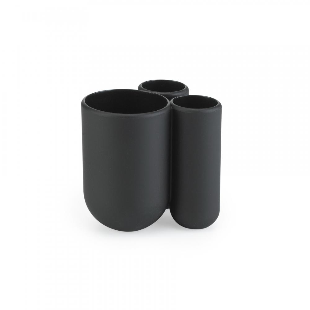 Organizator periuta si pasta de dinti negru Touch H10cm imagine 2021 insignis.ro