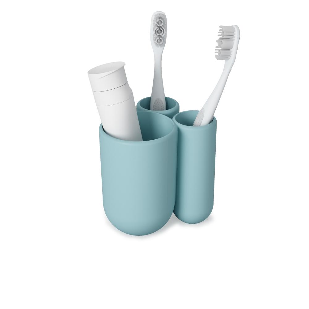 Organizator periuta si pasta de dinti albastru Touch H10cm imagine 2021 insignis.ro
