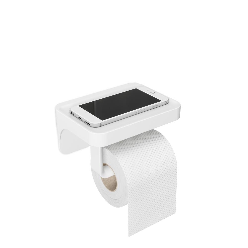 Suport hartie igienica cu raft depozitare Flex Sure H8cm imagine 2021 insignis.ro