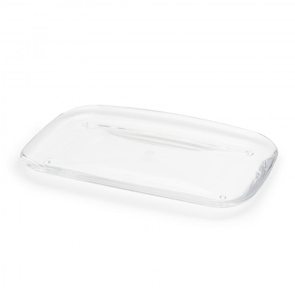 Tava pentru accesorii de baie transparenta Droplet H2cm imagine 2021 insignis.ro