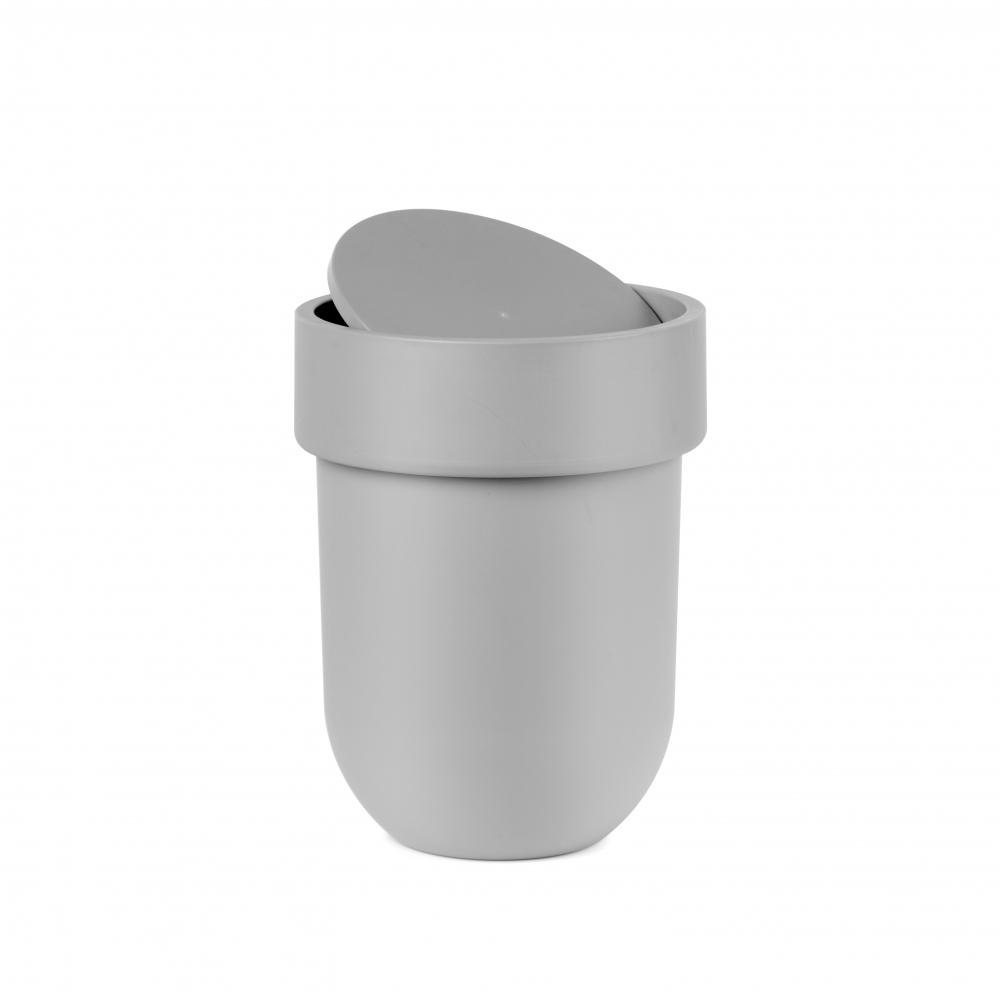 Cos de gunoi baie gri Touch H30cm imagine 2021 insignis.ro