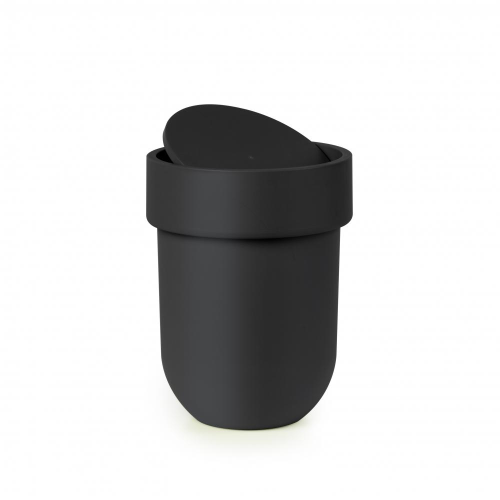 Cos de gunoi baie negru Touch H30cm imagine 2021 insignis.ro