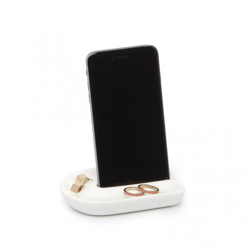 Suport telefon mobil baie alb Junip H2cm imagine 2021 insignis.ro