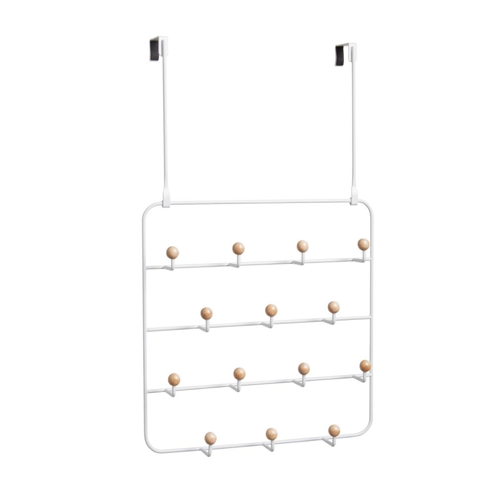 Cuier metalic de perete / usa Estique Alb L36cm imagine 2021 insignis.ro