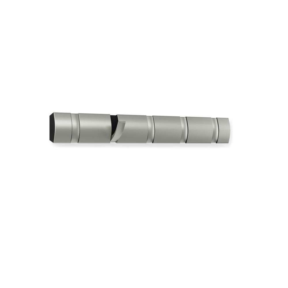Cuier cu 5 agatatori rabatabile Flip Argintiu L51cm imagine 2021 insignis.ro