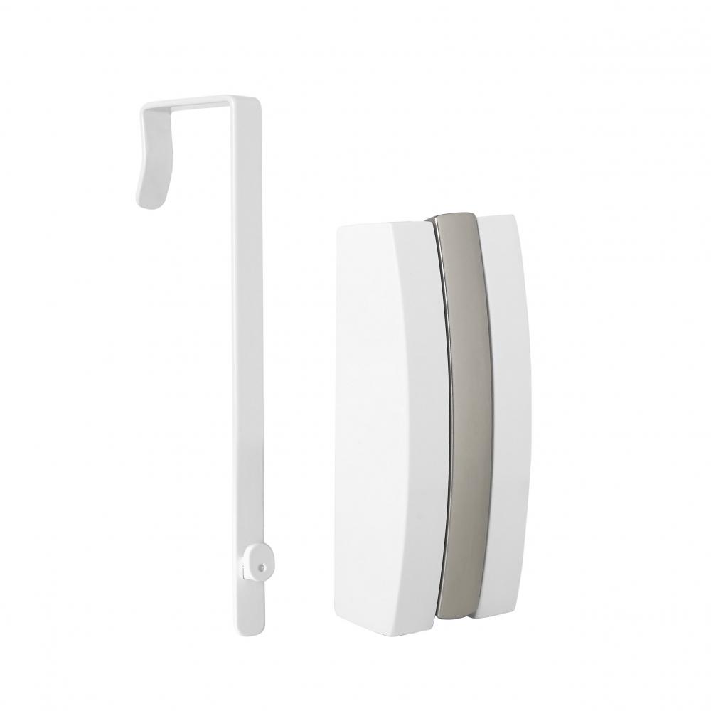 Cuier de perete/usa cu suport umerase Flip Alb L5cm imagine 2021 insignis.ro
