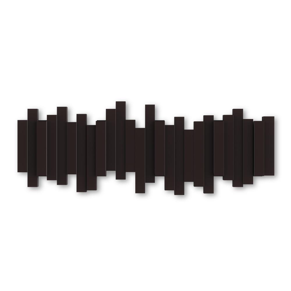 Cuier de perete agatatori rabatabile Sticks Maro L49cm imagine 2021 insignis.ro