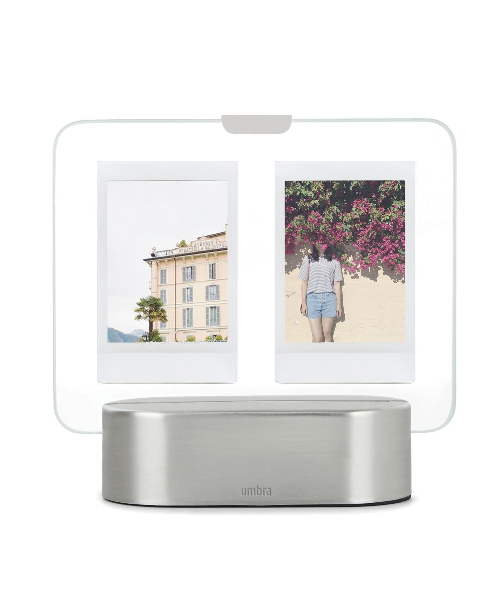 Rama foto cu LED pentru 2 fotografii Glo 15x14x6cm imagine 2021 insignis.ro