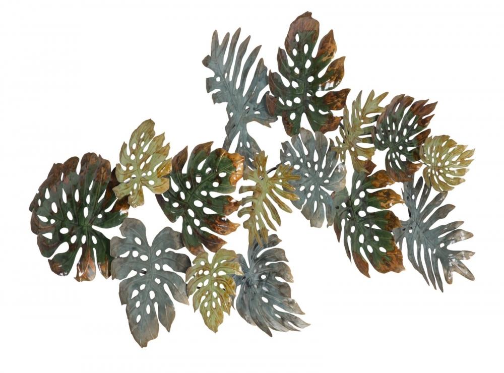 Decoratiune metalica de perete Nature 131x8x69cm imagine 2021 insignis.ro