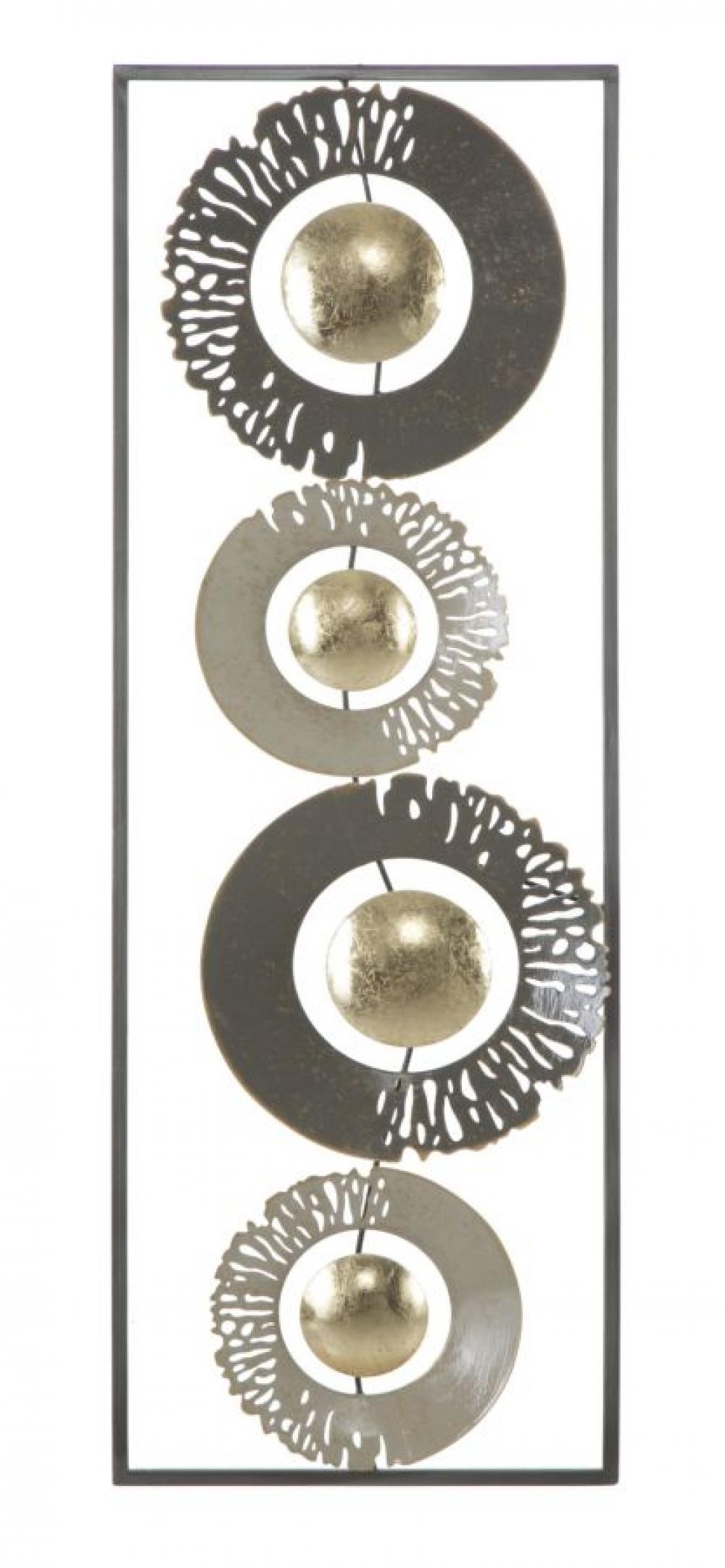 Decoratiune metalica de perete Larel 92x5x33cm imagine 2021 insignis.ro