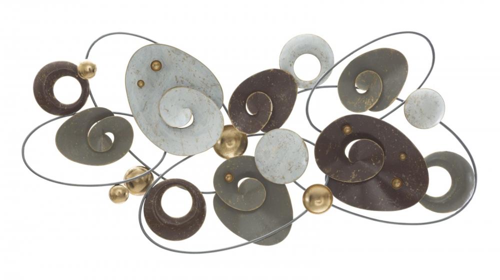 Decoratiune metalica de perete Nobel 123x9x63cm imagine 2021 insignis.ro
