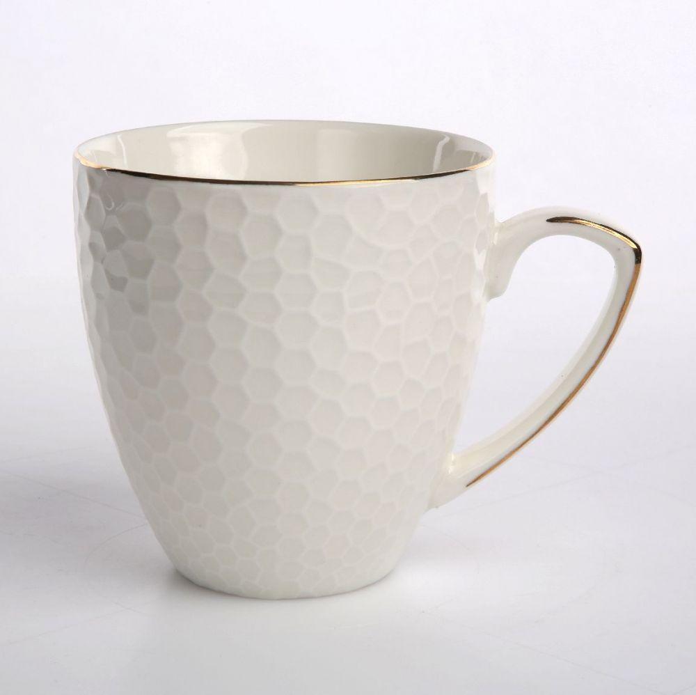 Cana de cafea portelan Honey GoldLine 430ml imagine 2021 insignis.ro