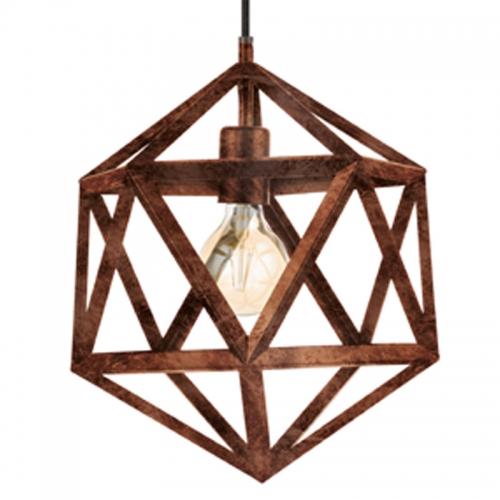 Pendul Geometric cupru antichizat