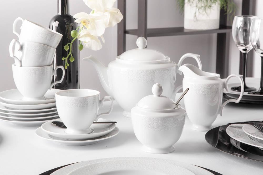 Serviciu ceai/cafea 6 persoane din portelan MariaPaula Amore 21 piese imagine 2021 insignis.ro