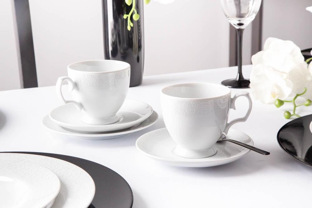 Serviciu ceai/cafea 6 persoane din portelan MariaPaula Amore 18piese imagine 2021 insignis.ro