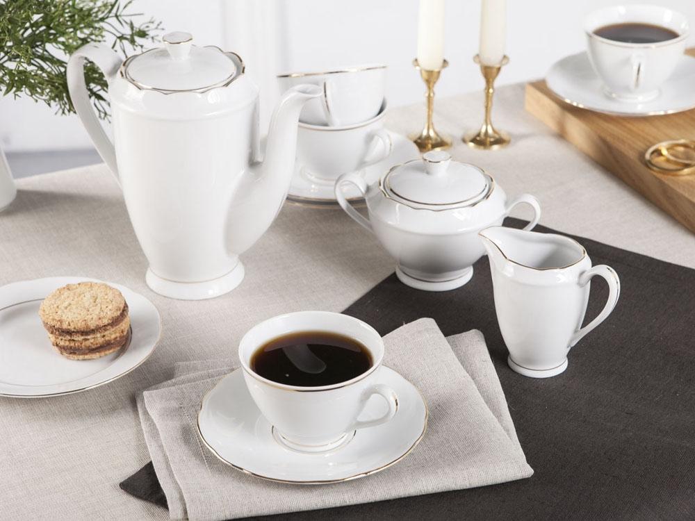 Serviciu ceai/cafea 12 persoane din portelan Feston 39piese imagine 2021 insignis.ro