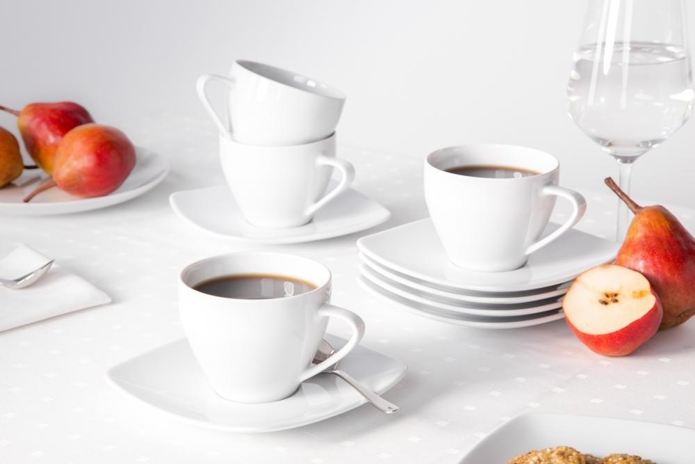 Serviciu ceai/cafea 6 persoane din portelan MariaPaula Moderna 12piese imagine 2021 insignis.ro