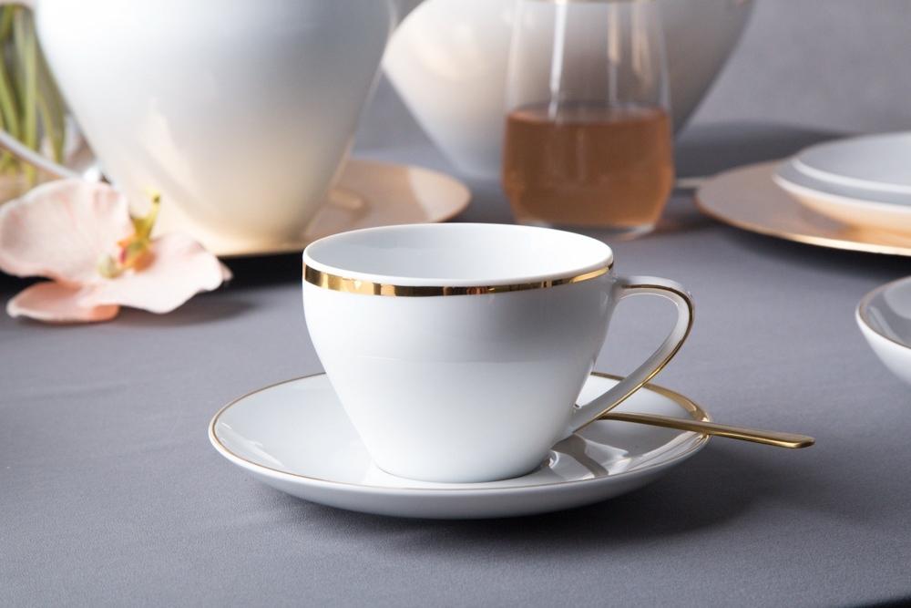 Set cafea 2 persane din portelan MariaPaula Moderna Gold 4piese imagine 2021 insignis.ro