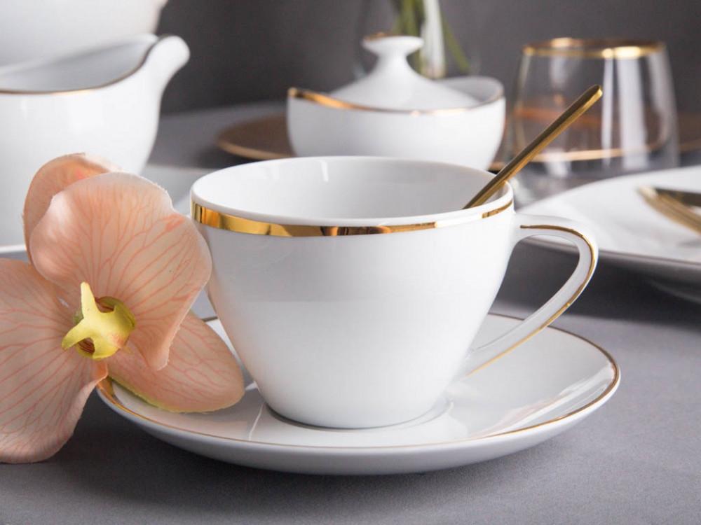 Ceasca cafea din portelan MariaPaula Moderna GoldLine 250ml imagine 2021 insignis.ro