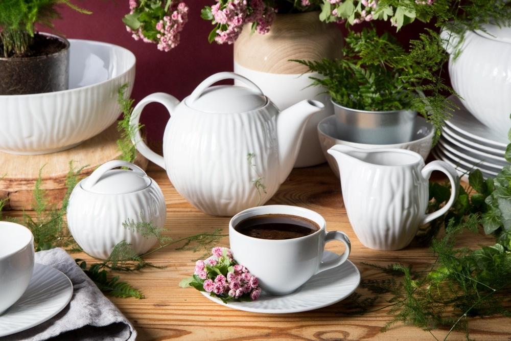 Serviciu ceai/cafea 6 persoane din portelan MariaPaula Nature 15piese imagine 2021 insignis.ro