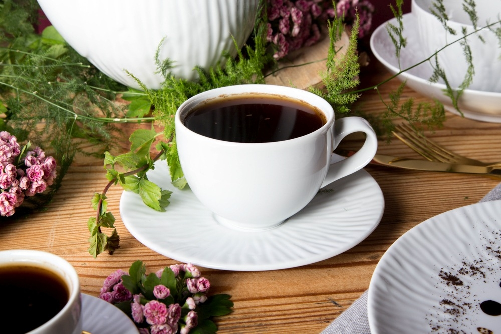 Serviciu ceai/cafea 6 persoane din portelan MariaPaula Nature 12piese imagine 2021 insignis.ro