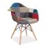 Scaun Eames B Patchwork colorat