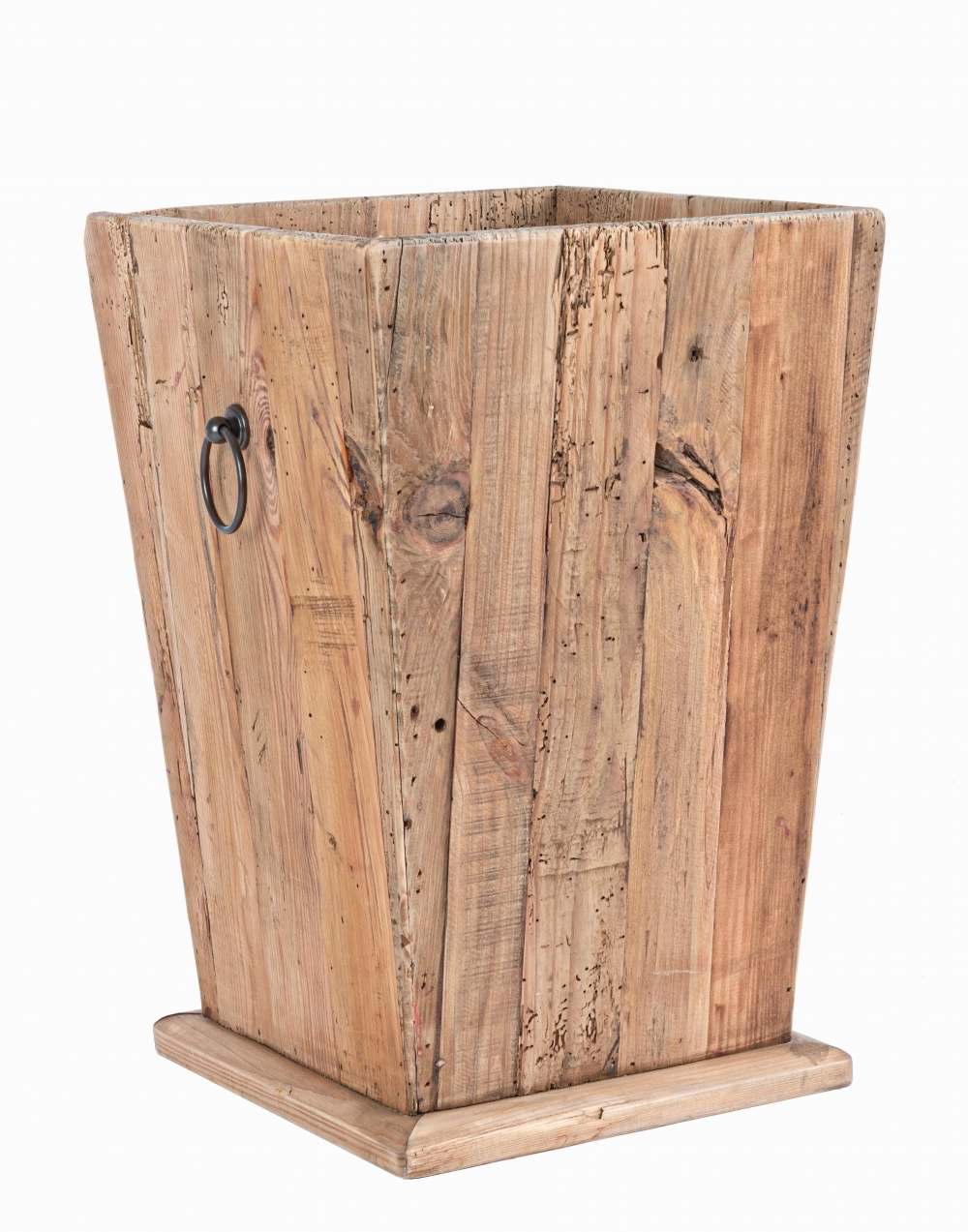 Suport ghiveci din lemn reciclat Ellison H60cm imagine 2021 insignis.ro