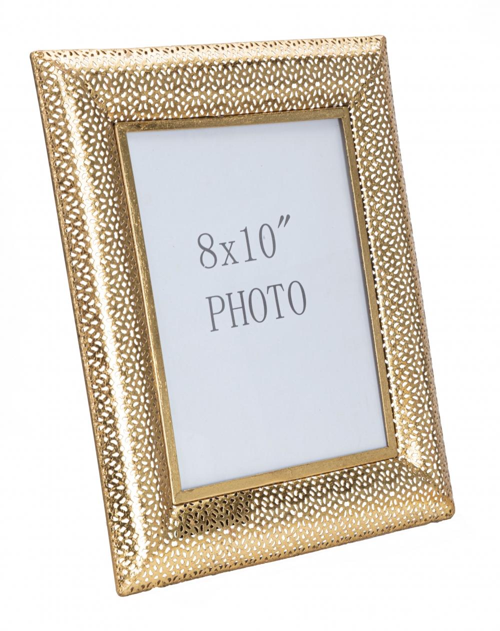 Rama foto decorativa din metal Glam aurie 20X25cm imagine 2021 insignis.ro