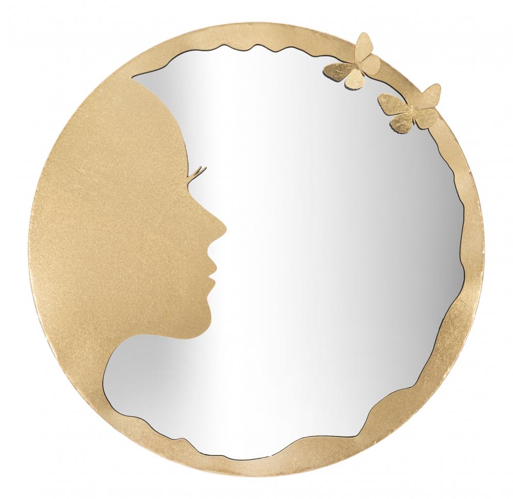 Oglinda decorativa de perete Luxy aurie D80cm image0