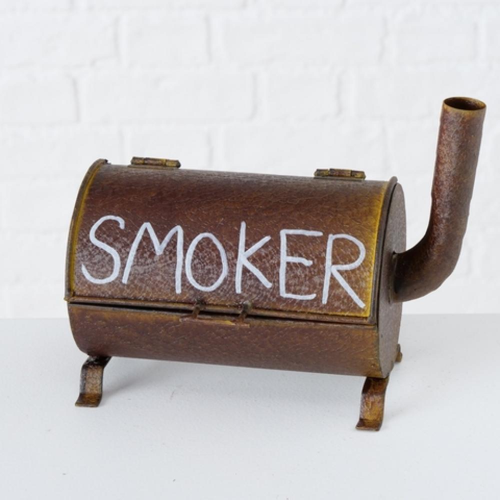 Scrumiera de masa Smoker maro ruginit H16cm imagine 2021 insignis.ro