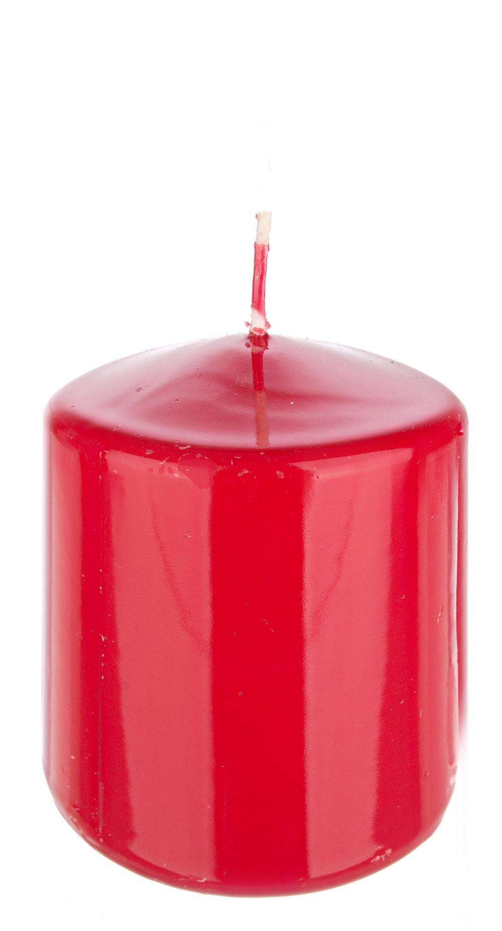 Lumanare Ruby rosu 6x8cm imagine 2021 insignis.ro