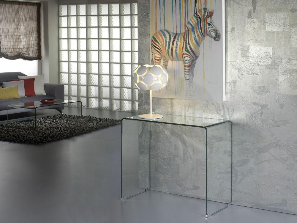 Consola sticla securizata Glass L90cm imagine 2021