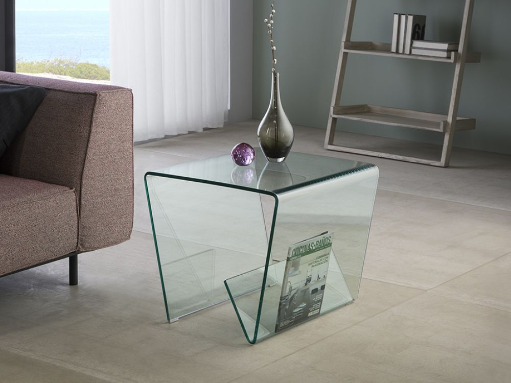 Masuta laterala din sticla securizata Glass III L50cm imagine 2021
