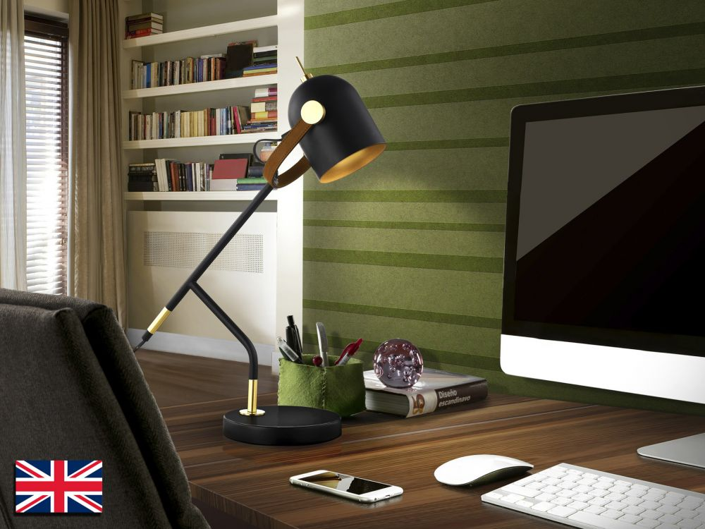 Lampa de birou Adame H52cm negru mat dimmabil imagine 2021 insignis.ro