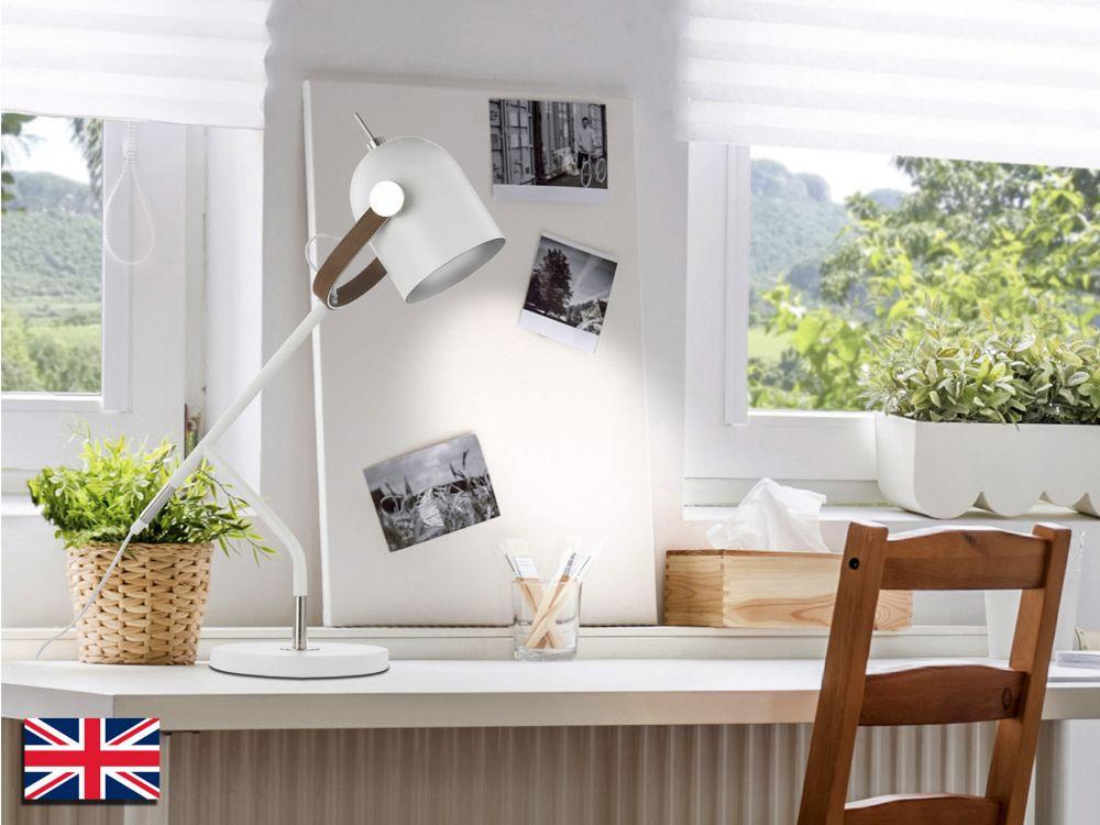 Lampa de birou Adame H52cm alb mat dimmabil imagine 2021 insignis.ro