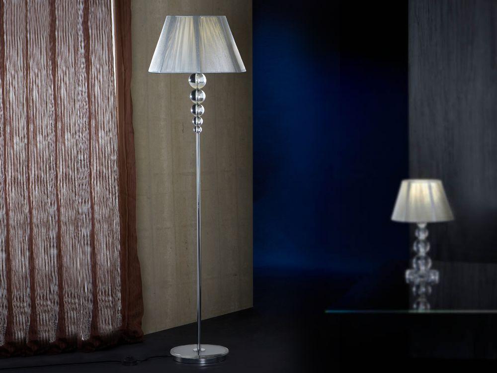 Lampa de podea Mercury 1x10W H165cm crom imagine 2021 insignis.ro