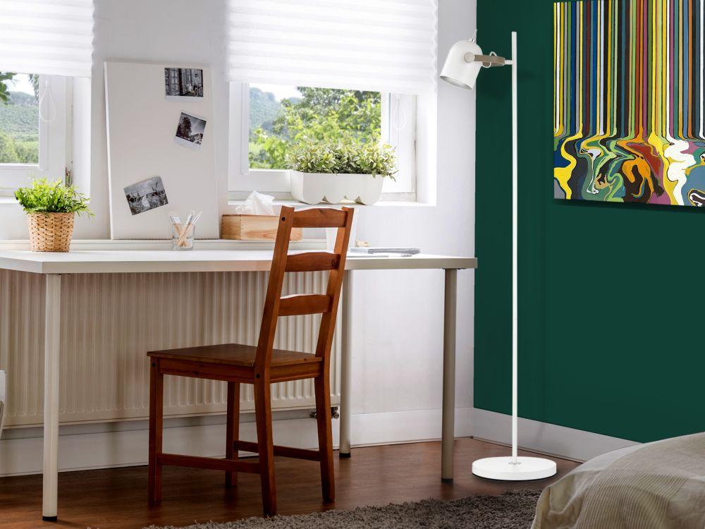 Lampa de podea Adame H148cm 1x7W dimmabil alb imagine 2021 insignis.ro