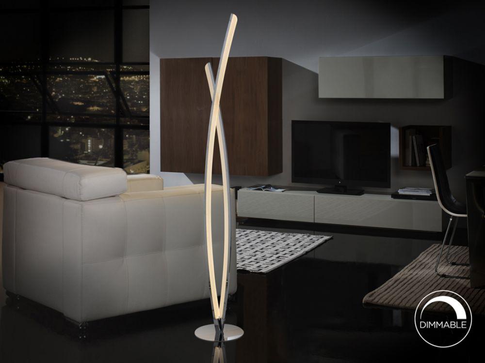 Lampa de podea LED Linur 254W H131cm dimmabil imagine 2021 insignis.ro