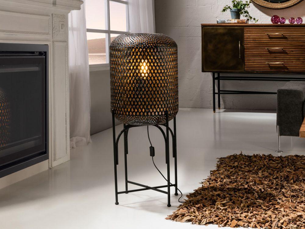 Lampa de podea Mara 1x8W H93cm dimmabil negru imagine 2021 insignis.ro