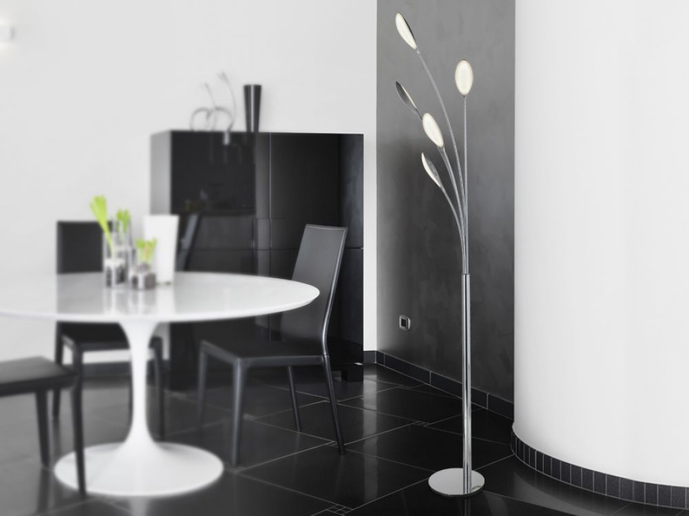 Lampa de podea LED Lucila H165cm crom imagine 2021 insignis.ro