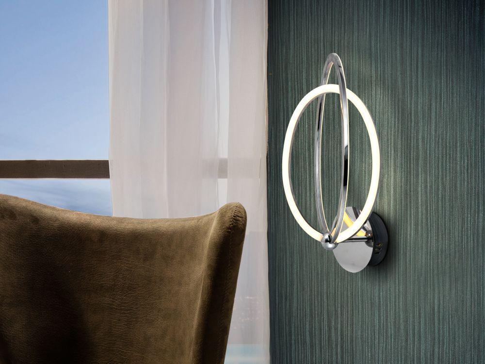 Aplica de perete LED Ocellis H41cm crom imagine 2021 insignis.ro