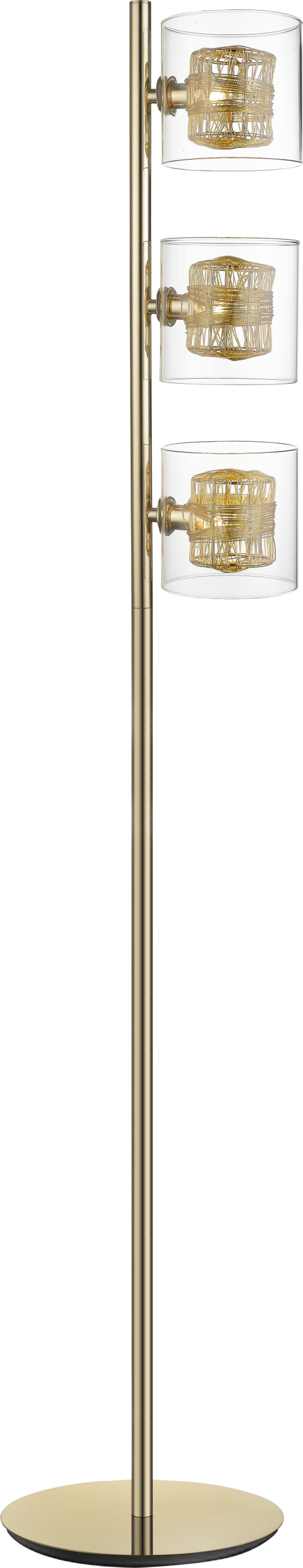 Lampa de podea KLASS auriu H154xL26xW14 cm imagine 2021 insignis.ro