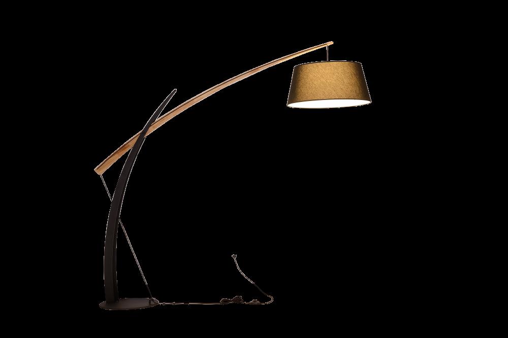 Lampadar GALLANT negru si maro H190xL200xW50 cm imagine 2021 insignis.ro