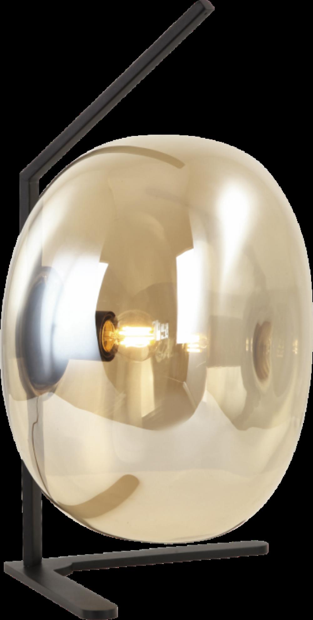 Veioza VESTA ambra si negru H36xL19xW25 cm imagine 2021
